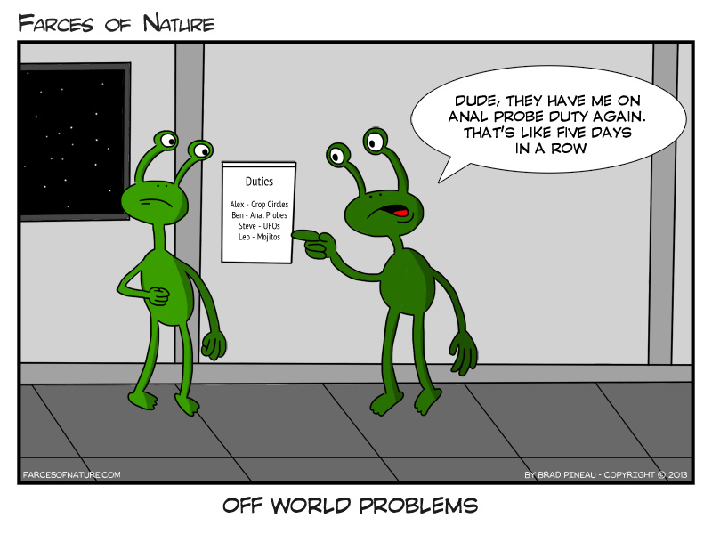 off world problems farces of nature